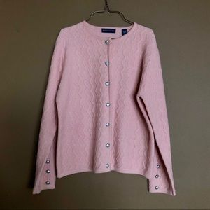 💥3/$20💥 100% Wool Baby Pink Cardigan Sweater